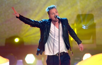VIENNA, AUSTRIA - MARCH 23:  Ryan Tedder of One Republic performs during 'Wetten, dass..?' TV Show at Stadthalle on March 23, 2013 in Vienna, Austria.  (Photo by Luca Teuchmann/Getty Images)