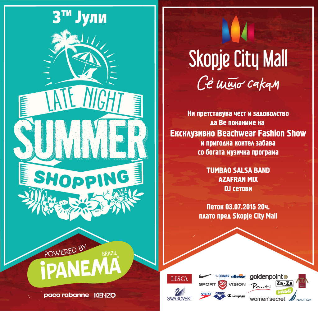 Online Invitation Late Night Shopping - Skopje City Mall
