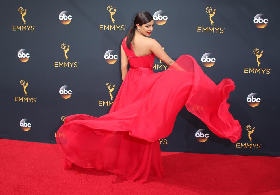 Actress Priyanka Chopra arrives at the 68th Primetime Emmy Awards in Los Angeles, California