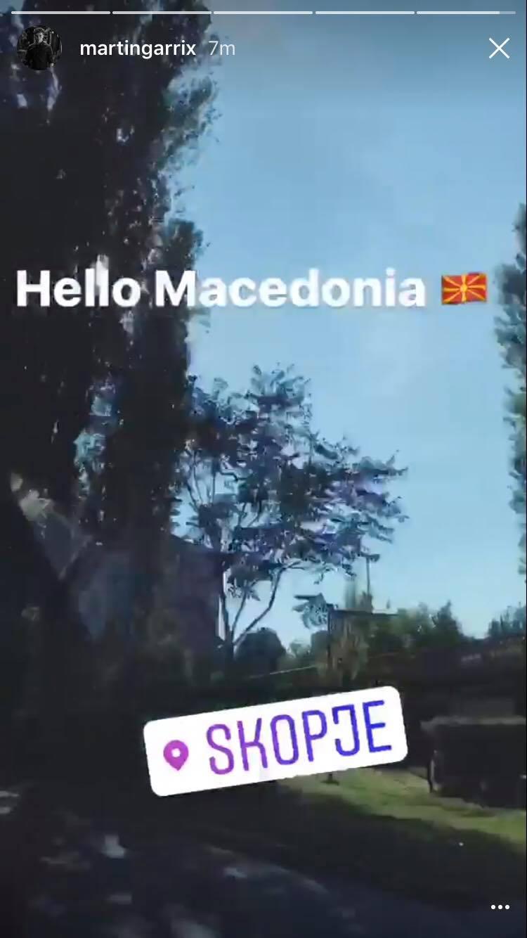 ЗДРАВО МАКЕДОНИЈА: Мартин Гарикс пристигна во Скопје (ЕКСКЛУЗИВНО ФОТО)