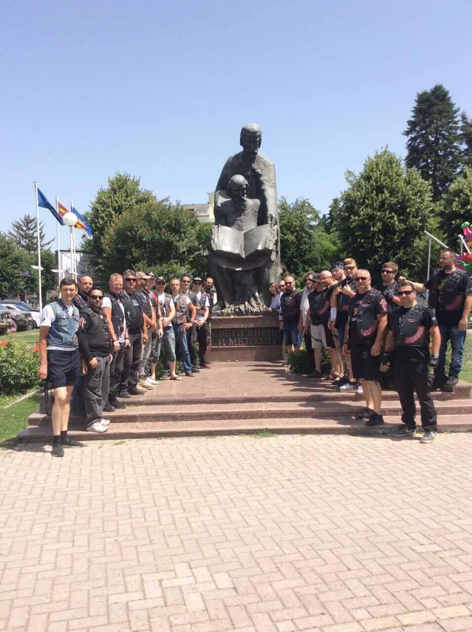 """Над 150 моторџии од словенските земји учествуваат во проектот """"Славјански свет"""" на Ноќните волци"""