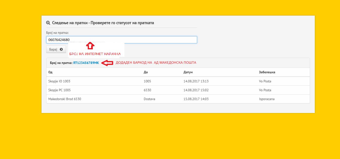 Македонска пошта од денеска овозможува следење на пратките нарачани преку интернет