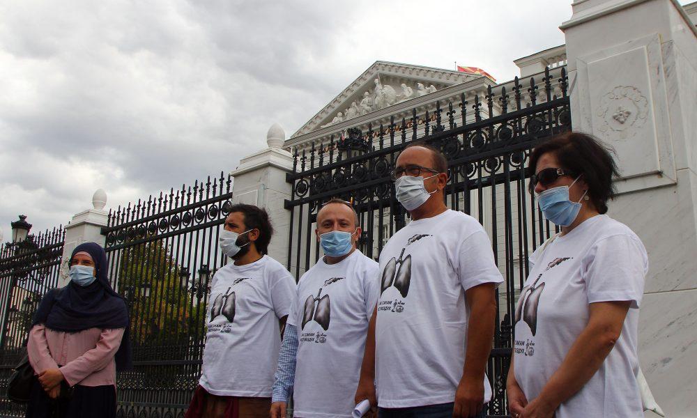 МАРШ ЗА ЧИСТ ВОЗДУХ  Граѓанскиот сектор бара мерки за намалување на загадувањето
