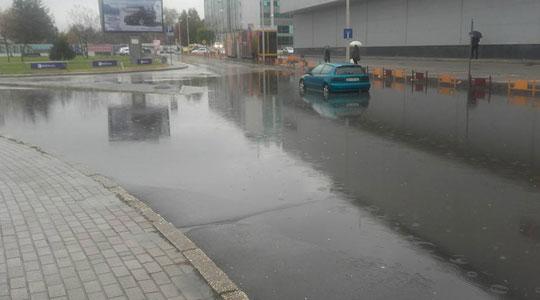 Поплавен дел од  Јужен булевар